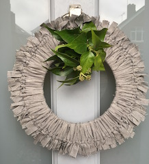Fabric Xmas Wreath