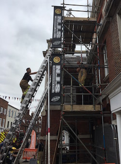 Firefighters Charity Climb Chichester