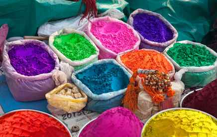 Holi Festival Coloured Powders