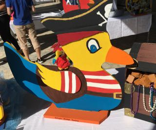 Lyme Regis Carnival Duck Competition Pirate Duck