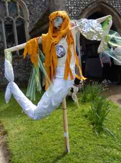 Mermaid Scarecrow
