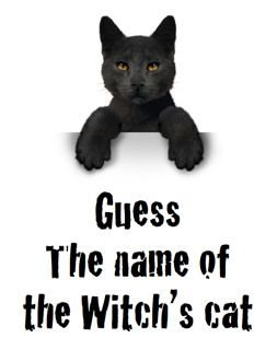guess the name of the witchs cat halloween fundraiser - Halloween Fundraiser Ideas