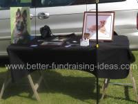 Dog equipment at a fundraising show