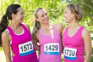 female charity runners