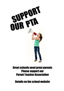 PTA Poster - Girl with a megaphone
