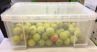 Guess How Many Tennis Balls Are In The Box