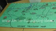 Fundraising stall treasure map